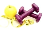 9181702-healthy-lifestyles--apple-and-weights-with-measuring-tape